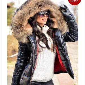 BRAND NEW! Women's Camo Warm Faux Fur Lining Coat